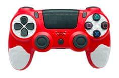 T-GAME DS10 červený bezdrôtový herný ovládač pre PS4