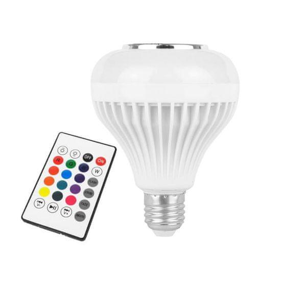 LTC RGB LED sijalka z bluetooth zvočnikom in daljincem 12W