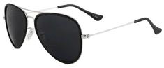 ENTAC Sončna očala Eclipse mat srebrni okvir z UV zaščito
