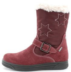 Primigi 8376822 dekliški škornji z Goratex membrano, vinsko rdeči, 27