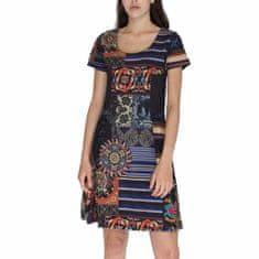 Desigual Obleka Woman Knitted Dress Short Sleeve L