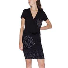 Desigual Obleka Woman Knitted Dress Short Sleeve XS