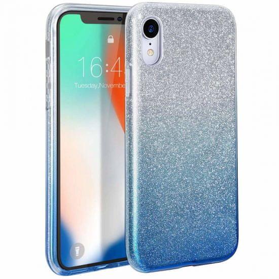 Bling silikonski ovitek z bleščicami 2v1 za Samsung Galaxy A32 A326 5G, srebro moder