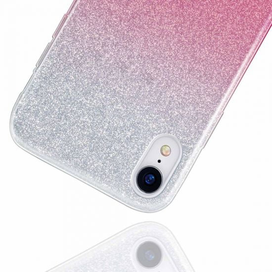 Bling silikonski ovitek z bleščicami 2v1 za Samsung Galaxy A32 A326 5G, srebro roza