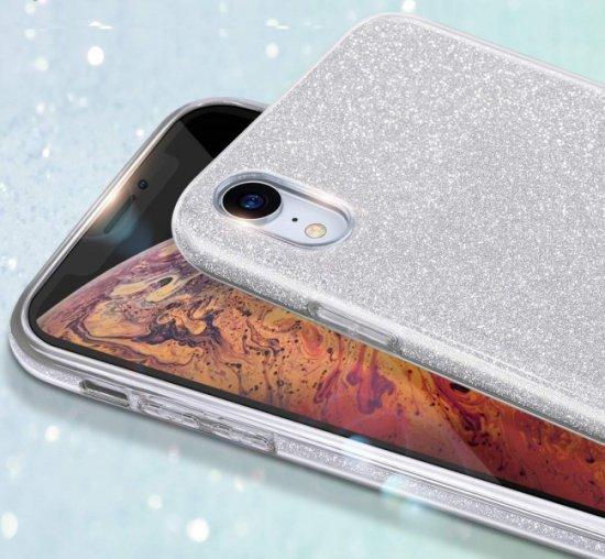 Bling silikonski ovitek z bleščicami 2v1 za Samsung Galaxy A32 A326 5G, srebrn