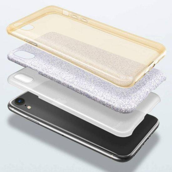 Bling silikonski ovitek z bleščicami 2v1 za Samsung Galaxy A32 A326 5G, zlat