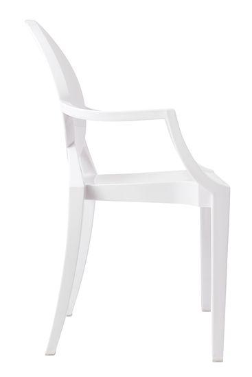 shumee Krzesło LOUIS białe - poliwęglan