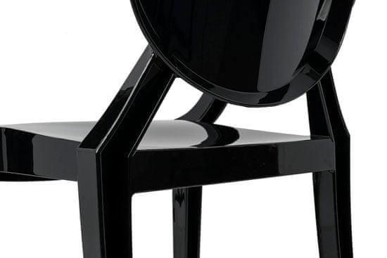 shumee Krzesło LOUIS czarne - poliwęglan