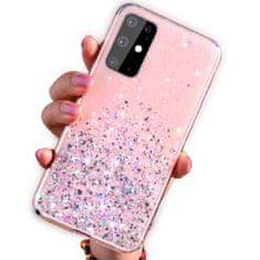 SPARKLE silikonski ovitek z bleščicami za Samsung Galaxy A12 A125, roza