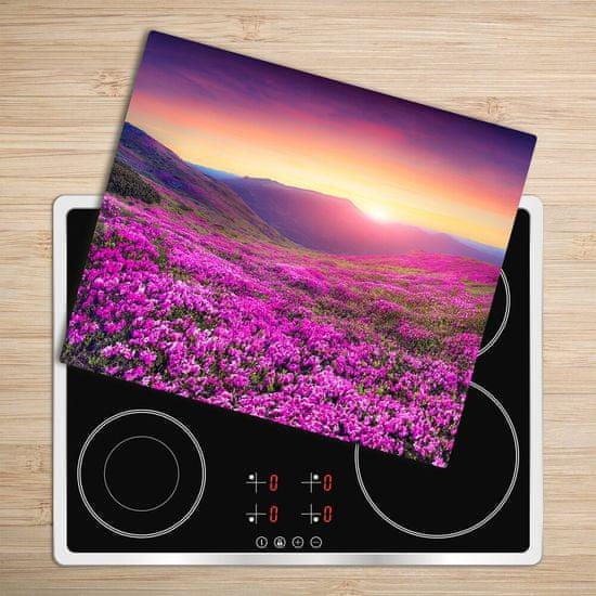 tulup.hu Üveg vágódeszka rózsaszín domb