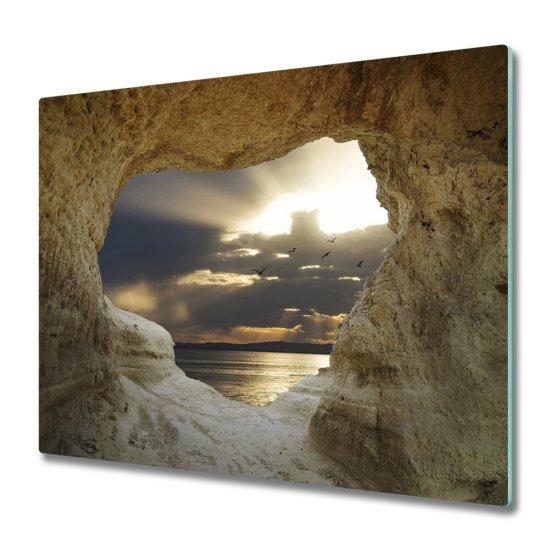 tulup.hu Üveg vágódeszka A tengerparti barlang