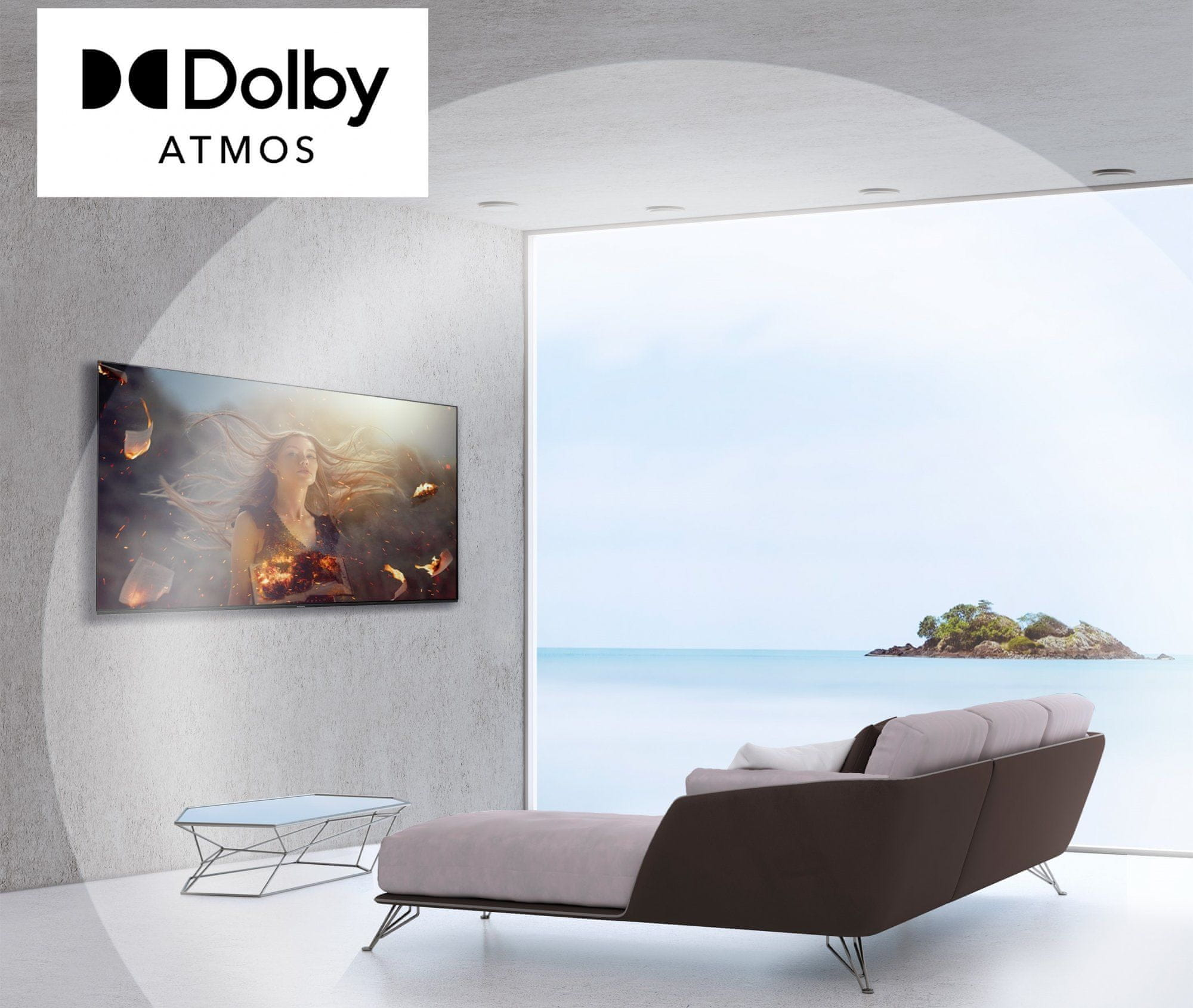 Panasonic TV televize OLED 4K 2021 integrált hangszórók woofer dolby atmos