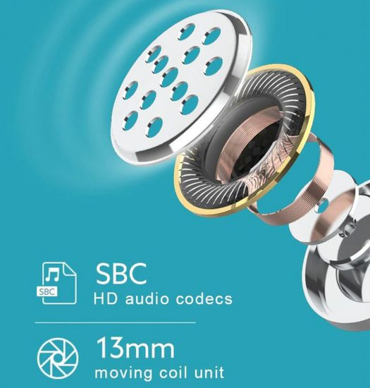 QCY TWS T8 Bluetooth slušalice, bijele
