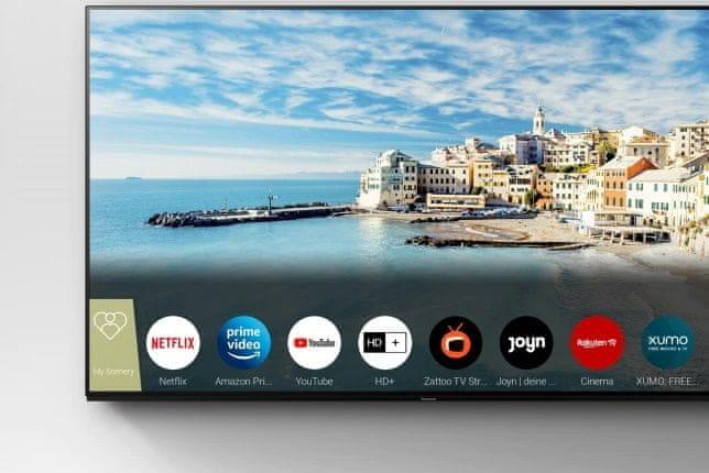 Panasonic TV televize OLED 4K 2021 my home screen 6.0 my scenery