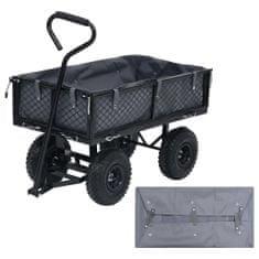 shumee Vložka do záhradného vozíka tmavosivá 86x46x22 cm látková