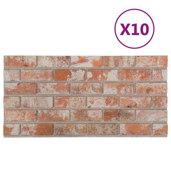 shumee Panele ścienne 3D, wzór czerwonej cegły, 10 szt., EPS