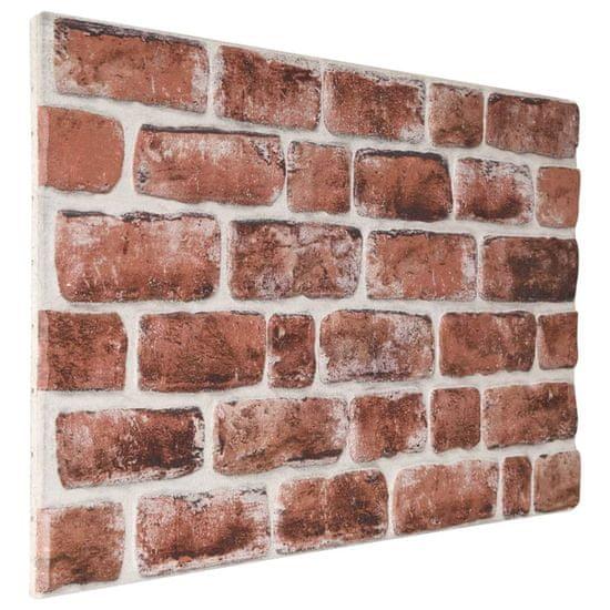 shumee Panele ścienne 3D, wzór ciemnobrązowej cegły, 10 szt., EPS