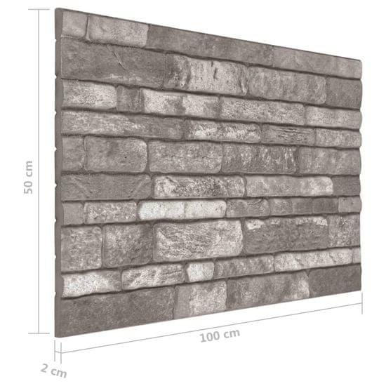 shumee Panele ścienne 3D, wzór ciemnoszarej cegły, 10 szt., EPS