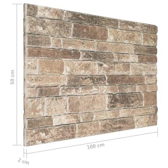 shumee Panele ścienne 3D, wzór wielokolorowych cegieł, 10 szt., EPS