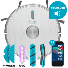 Concept robotický vysavač s mopem VR3205 3 v 1 PERFECT CLEAN Laser UVC Y-wash