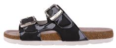 BF detské kožené papuče BY5131698/BY2131698 31 čierne