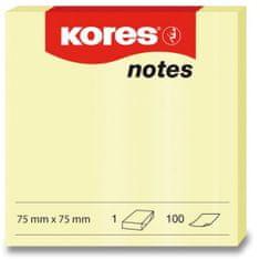 Kores Samolepicí bločky 100 listů 75 x 75 mm