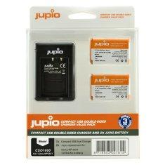 Jupio Set Jupio 2x baterie NP-BX1 - 1250 mAh + nabíječka pro Sony