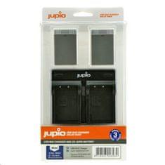 Jupio Set Jupio 2x baterie PS-BLS5 / PS-BLS50 - 1210 mAh a duální nabíječka pro Olympus