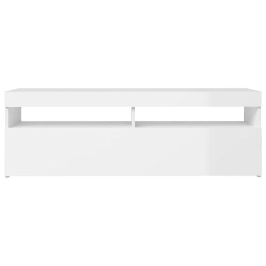 Petromila TV skrinka s LED svetlami lesklá biela 120x35x40 cm