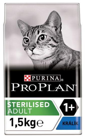Purina Pro Plan Cat Sterilised králík 1,5kg
