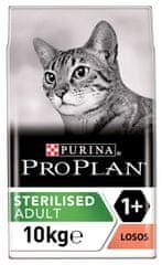 Purina Pro Plan Cat STERILISED losos 10 kg