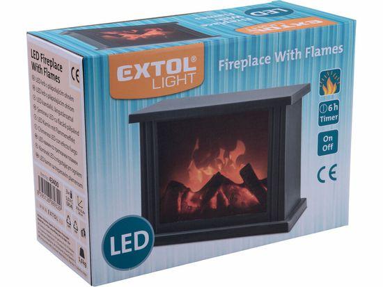 Extol Light krb s plápolajícím ohněm LED