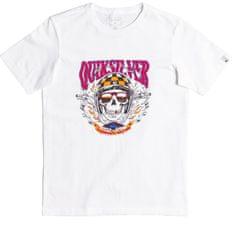 Quiksilver Biker skull ss youth EQBZT04373-WBB0 fiú póló, 8, fehér