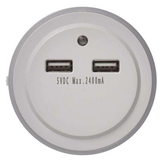 EMOS EMOS LED nočné svetlo P3313 do zásuvky s 2 × USB 1456000100