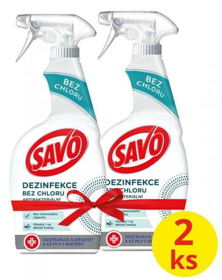 Savo Antibakteriálny sprej bez chlóru 2 x 700 ml