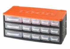 Tood Box na náradie 15 zásuviek, 330x170x140 mm, plast
