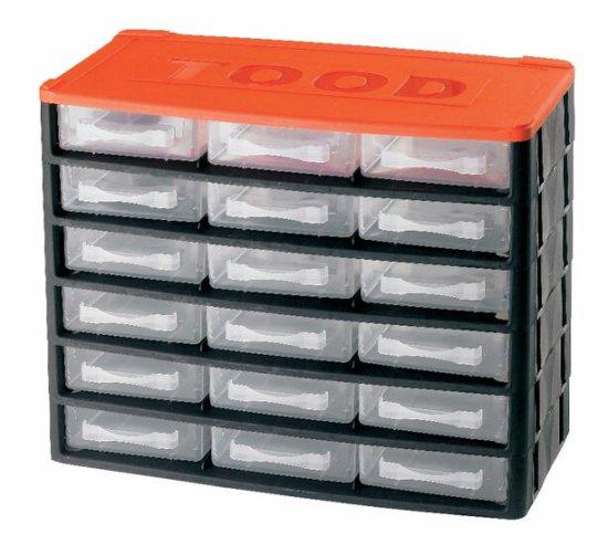 Tood Box na náradie 18 zásuviek, 330x170x260 mm, plast