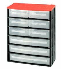 Tood Box na náradie 9 zásuviek, 330x170x410 mm, plast