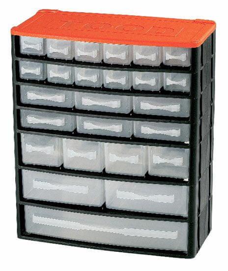 Tood Box na náradie 25 zásuviek, 330x160x380 mm, plast