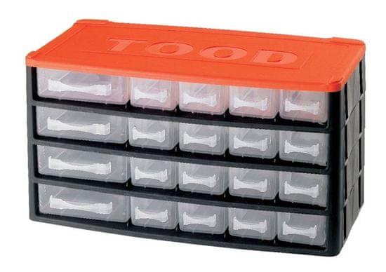 Tood Box na náradie 20 zásuviek, 330x170x180 mm, plast