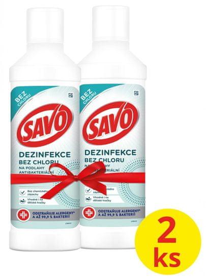 Savo Klórmentes Antibakteriális padlótisztító 2 x 1l