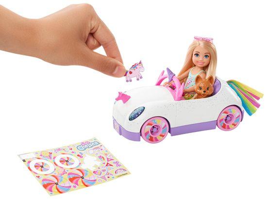Mattel Barbie Chelsea a kabriolet s nálepkami