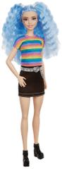 Mattel Barbie Modelka 170 - Čierna sukňa a dúhové tričko