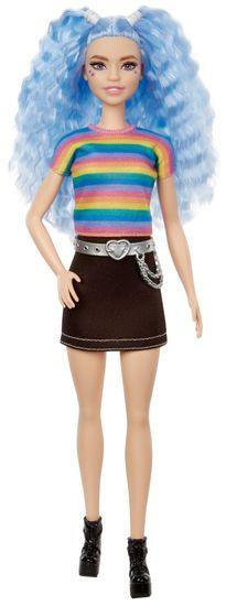 Mattel Barbie Modelka 170 - Czarna spódnica i tęczowy top