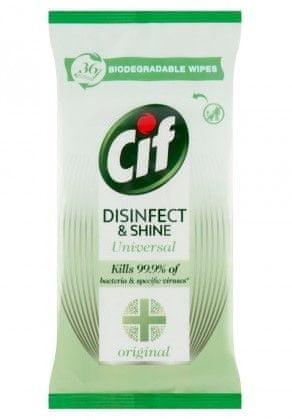 Cif Disinfect&Shine törlőkendő, 36db