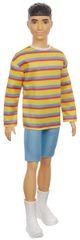 Mattel Barbie Model Ken 175 - Koszulka w paski i szorty