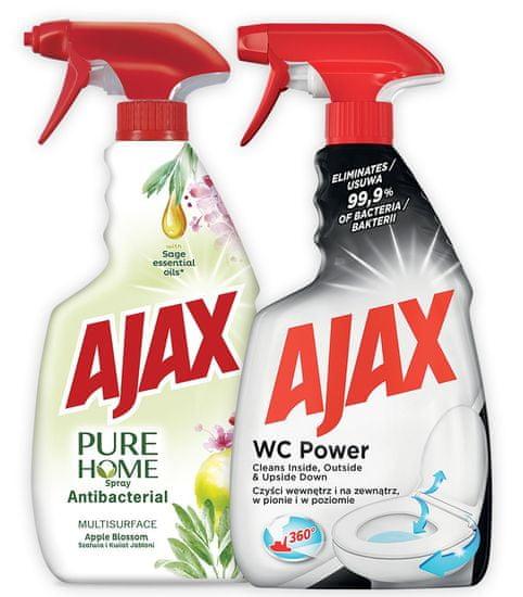 AJAX Pure spray 500 ml + WC Power 500 ml