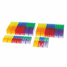 TickIt Průhledné barevné kostky (90 ks) / Translucent Module Blocks (90 pc)