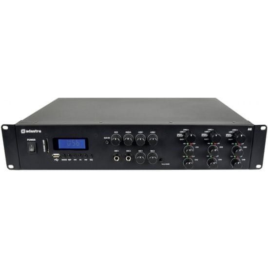 Adastra A6, mixážní 3-zónový zesilovač 6x 100W, BT/MP3/FM