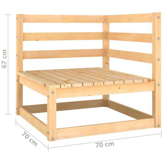 shumee 9-dielna záhradná sedacia súprava s podložkami borovicový masív